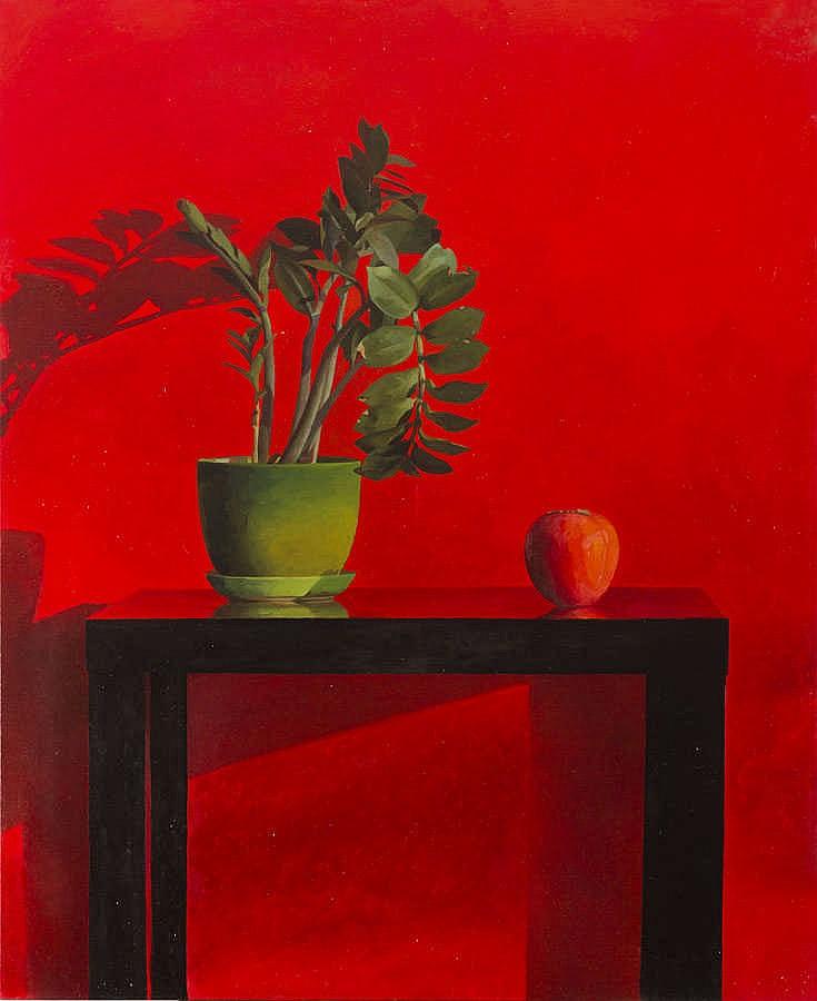 Justyna Posiecz-Polkowska (b. 1985) Still life on a red background, 2017
