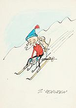 Zbigniew Lengren (1919 - 2003), Filutek skiing, 80s of the 20th Century