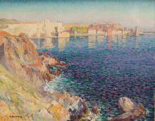 Adrien Hamon (1875 - 1963) Bay in Collioure