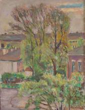 Czeslaw Rzepinski (1905 - 1995) Landscape With Trees And Houses