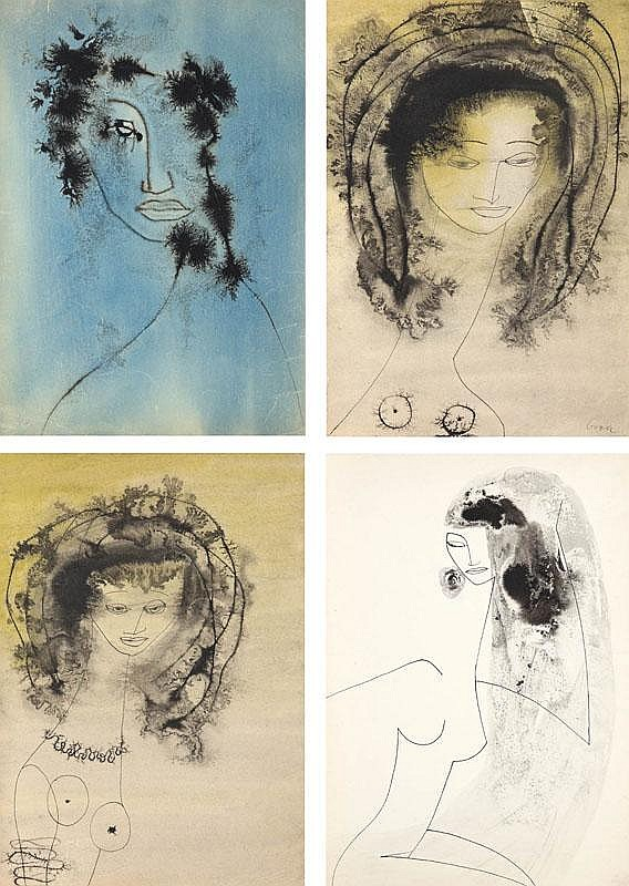 Urszula Broll Zestaw 4 prac: Postacie kobiece