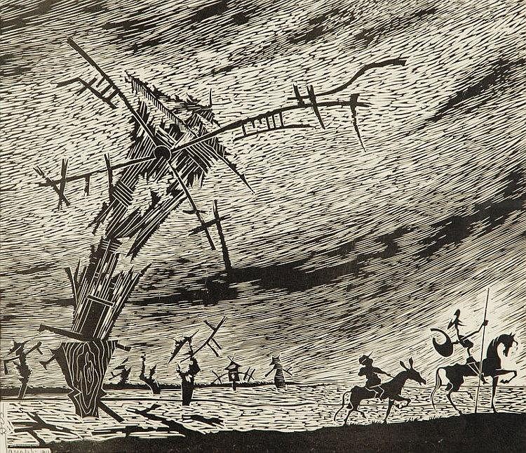 Stefan Rassalski (1910 - 1972) Don Kichote, 1961