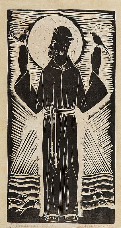 Mieczyslaw (Mieszko) Jablonski (1892 - 1965) St. Francis
