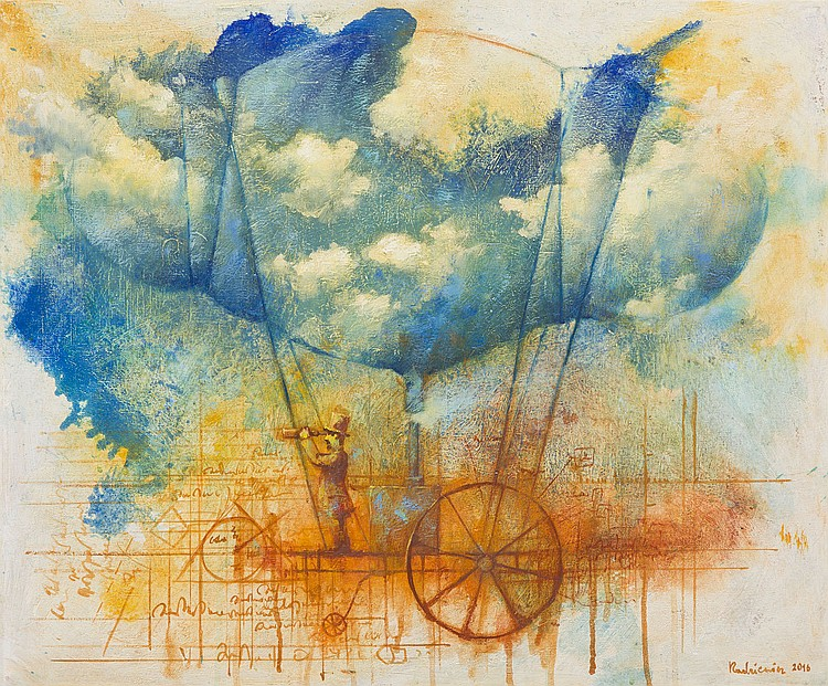 Grzegorz Radziewicz (b. 1976), Deep blue, 2016