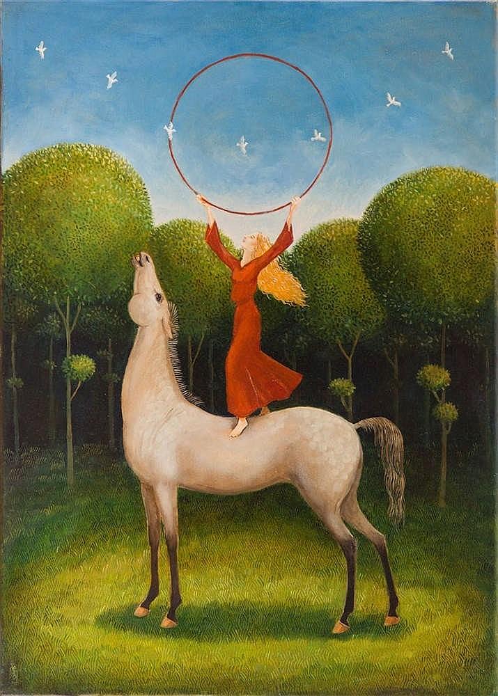 Malwina de Brade (b. 1968) Red circle, 2017
