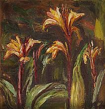 Kazimierz Zieleniewski (1888 - 1931), Exotic Flowers, 20's of 20th Century