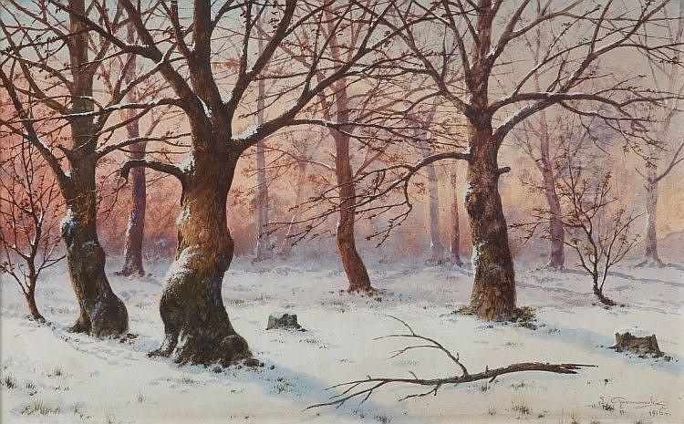 Jozef Guranowski (1852 - 1922) Forest in Winter, 1916