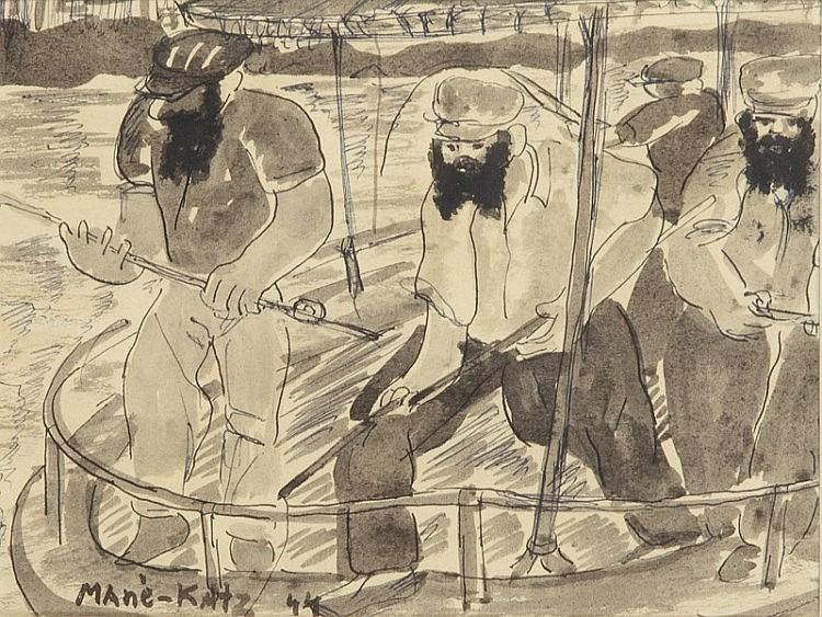 Emmanuel Katz (1894 - 1962) Anglers, 1944