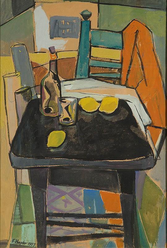 Fryderyk Hayder (1905 - 1990) Still Life, 1959