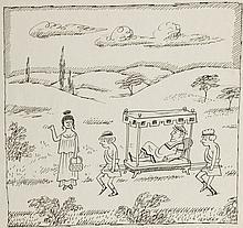 Zbigniew Lengren (1919 - 2003) Ancient times, satirical illustration