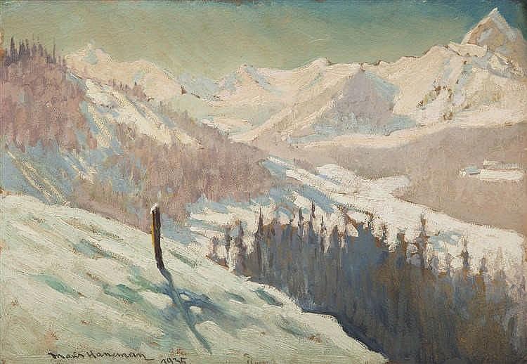 Max Haneman (1882 - 1944) Tatry - View from Boczan, 1935