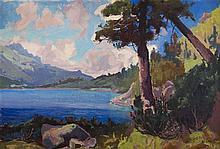 Stanislaw Galek (1876 - 1961) Landscape, 1924