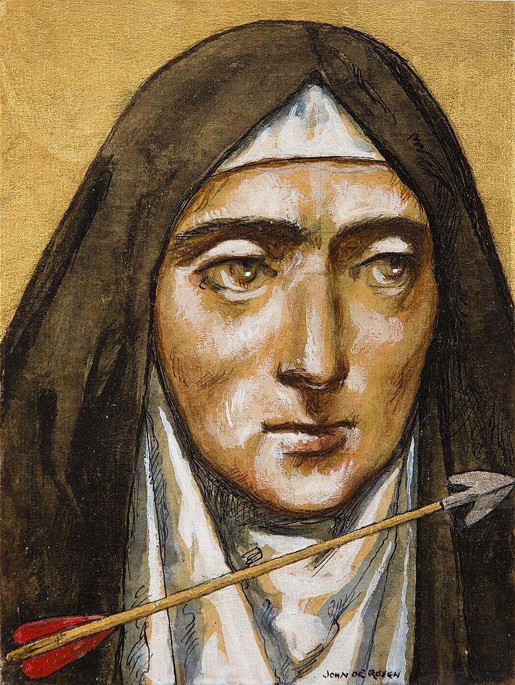 Jan Henryk de Rosen (1891 - 1982) St. Teresa of Avila