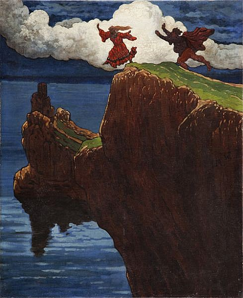 Marian Wawrzeniecki (1863 - 1943) From the Slavic Tales, 1914