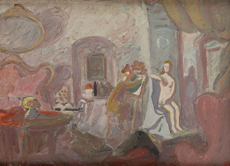 Waclaw Taranczewski (1903 - 1987) Little Painter, 1940s