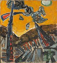 Stefan Gierowski (b. 1925) Landscape, 1949