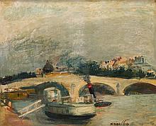 Rajmund Kanelba (Kanelbaum) (1897 - 1960) View on Pont Royal in Paris, 1930