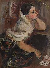 Rajmund Kanelba (Kanelbaum) (1897 - 1960) Fortune-Teller, 1928