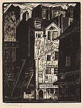 Tadeusz Cieslewski (son) (1895 - 1944) In the Latin Quarter in Paris