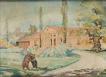 Antoni Chrzanowski (1905 - 2000) Bears in the front of manor house