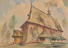 Antoni Chrzanowski (1905 - 2000) Small church in Rajbrota, 1939