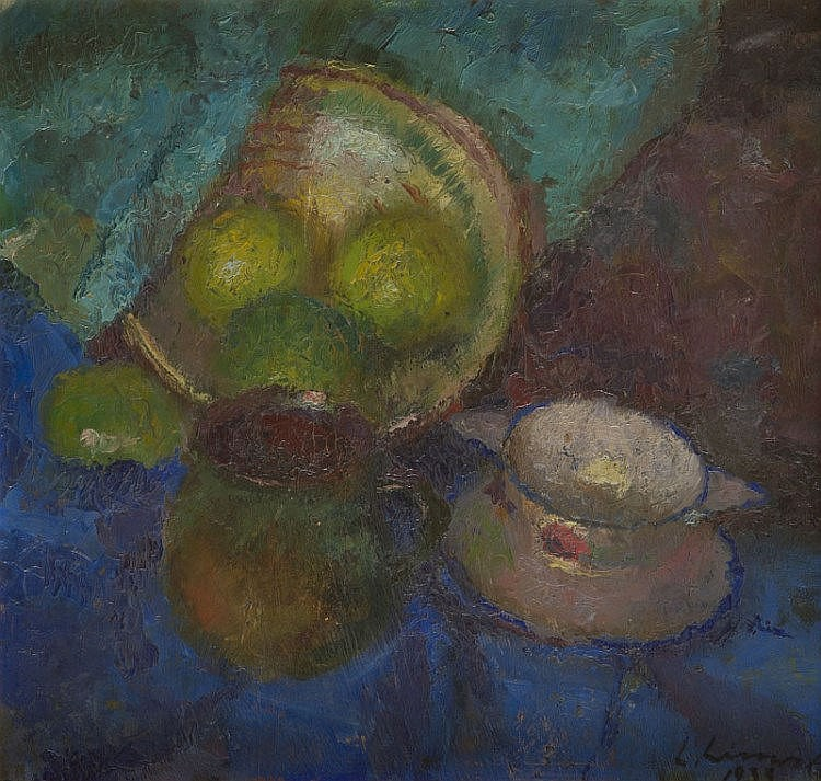Ludwik Lisowski (1907 - 1943) Still life with fruits, 1933