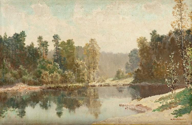 Konstanty Mackiewicz (1894 - 1985) Summer landscape