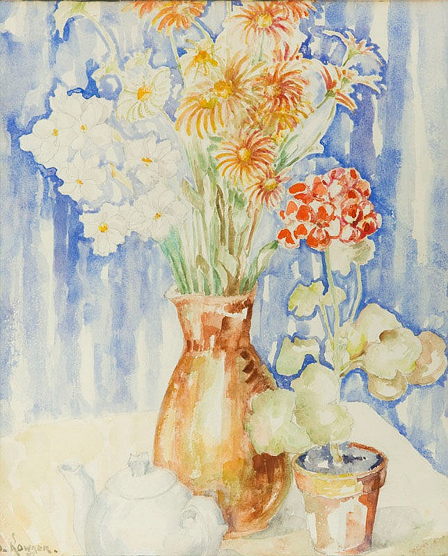 Jozef Kowner (1895 - 1967) Flowers in vase, 1957