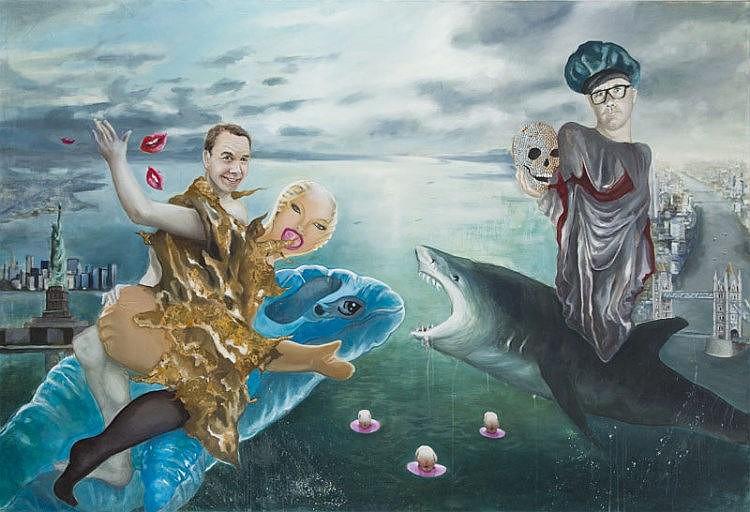 Julia Curylo (b. 1986) ''Jeff Koons and Damien Hirst share the artmarket'', 2013