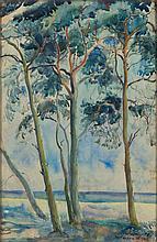 Antoni Chrzanowski (1905 - 2000) Landscape from Jastarnia, 1933