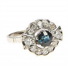 Ring with diamonds, Mid-20th Century