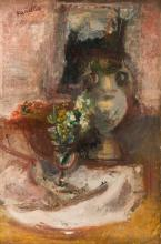 Rajmund Kanelba (1897 - 1960), Still life with flowers and vase, 1929