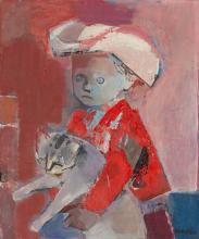 Rajmund Kanelba (1897 - 1960), Boy with a kitty