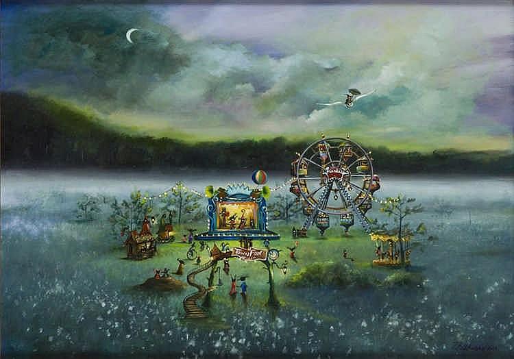 Patrycja Kruszynska-Mikulska (b. 1973) Feast of forest people, 2015