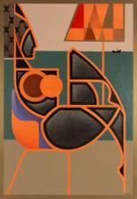 Anna Zalewska (b. 1985) Theater of chaos is holding emptiness, 2019, 100 x 80 cm