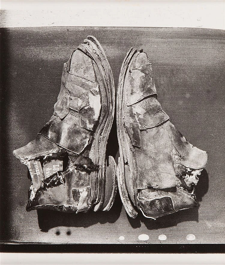 Andrzej Dudek-Dürer (b. 1953) An art of shoes 1969-1979-1981 ver. I, living sculpture