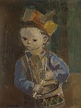 Rajmund Kanelba (Kanelbaum) (1897 - 1960) Johnnie with a drum, circa 1959