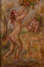 "Leon Weissberg (1893 - 1943) Bathers under the apple tree (""Baigneuses au pommier"") circa 1929"