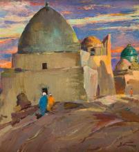 Adolf Behrmann (1876 - 1943) Oriental landscape