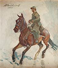 Roman Antoni Breitenwald (1911 - 1985) Soldier on Horseback, 1973