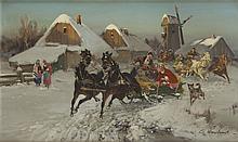 Czeslaw Wasilewski (1875 - 1946) Sleigh Ride