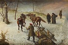 Antoni Kozakiewicz (1841 - 1929) Frightened Horses, 1885