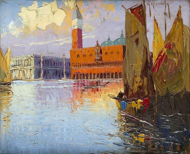Grzegorz Mendoly (? - 1943) View of Venice