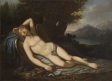Unknown Painter, 2nd half of 18th century Sleeping Cupid