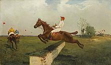 Waclaw Artur Wieloglowski called Starykon (1860 - 1933) Hurdle Race
