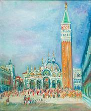 Jakub Zucker (1900 - 1981) Piazza San Marco