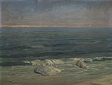 Otton Edward Borzemski (?-1978) Seashore with Stones