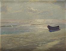 Otton Edward Borzemski (?-1978) Boat on Sea