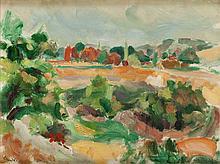 Jan Waclaw Zawadowski (1891 - 1982) Provence Landscape