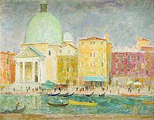 Eugeniusz Arct (1899 - 1974) View of Venice, 1965